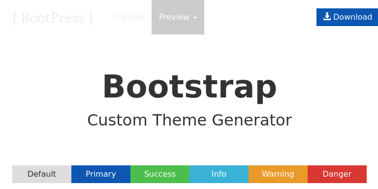 Bootstrap Theme Preview